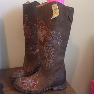 Stetson Roper Brown Aloha Boots Size 8 New tags